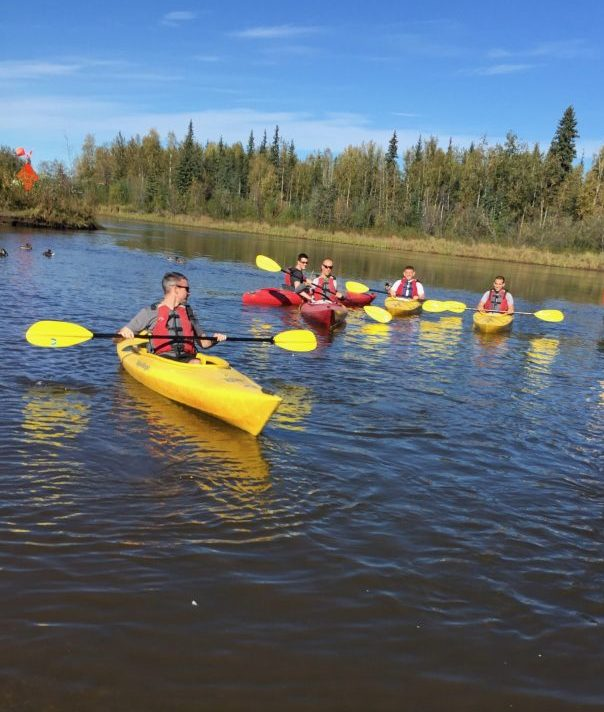 Stand-Up Paddleboard on the Chena River